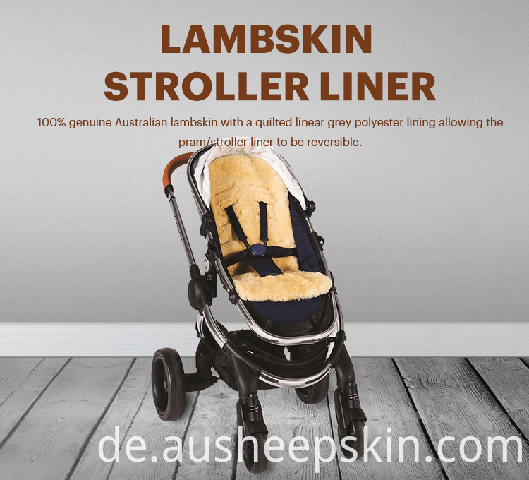 Natural Sheepskin Pushchair Liner