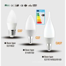 C37 Lâmpada de LED vela