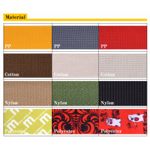 100% Eco-Friendly PP/Cotton/Nylon/Polyester Elastic Strap/Ribbon/Belts/Webbings for Garments/Bags