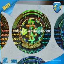 Tamper Proof Promocional Custom Print Cheap Hologram Sticker 3D