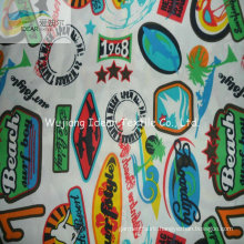 75DX150D Printed Plain Polyester Microfiber Peach Skin Fabric For Beach Pants