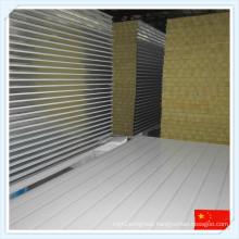 Galvanized Steel Sheet Mineral Wool Sandwich Panel for Wall