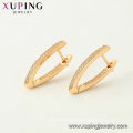 97069 xuping hoop 18k gold color Luxury Synthetic CZ women earrings