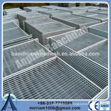 Panel de valla temporal de alta visibilidad en polvo