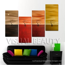 Contemporary Abstract Group Oil Painting Tree on Canvas