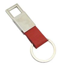 Titular de la llave de cuero del metal de la promoción con el laser graba la insignia (F3006C)