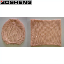 Sombrero de punto de moda caliente invierno y bufanda Infinity