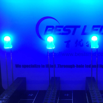 3 mm blauwe LED Ultra Bright hoge temperatuurbestendigheid