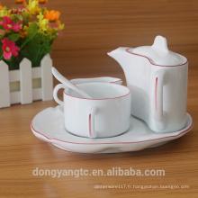 Ensemble de vaisselle en porcelaine en gros, ensemble de vaisselle de dîner, ensemble de dîner