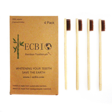 Cepillo de dientes de bambú ECO Cepillo de dientes degradable ECO Packag