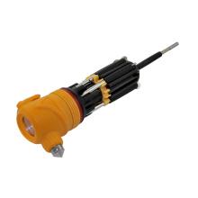 Multi-отвертка факел со светодиодной Мощный фонарик и желтая голова