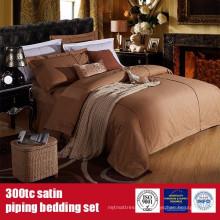 100% algodón 300TC Satin Piping Hotel Marca Ropa de cama