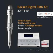 Kit de máquina de tatuagem digital com caneta permanente com sobrancelha