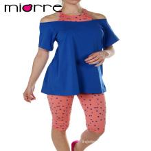 Miorre OEM Wholesale Cotton Women Sleepwear Capri Pajamas Set