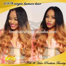 Оптовые дешевые Малайзии человеческих волос блондинка кружева перед парики