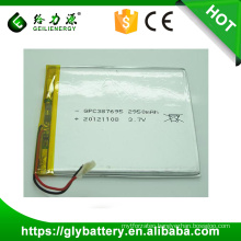 2950mah High capacity 387695 3.7v Li Polymer Rechargeble Battery