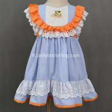 2019 boutique de vêtements fille Halloween robe citrouille