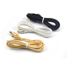 2 Meter Nylon Braided USB Charging Cable Charger USB for Nintendo 3DS DSi 2DS New 3DS XL/LL with Gold Metal Charing port