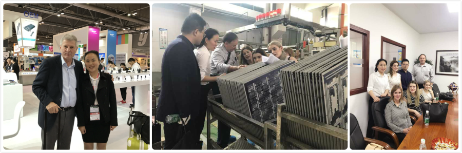 Fair and The client visit our PCB factory
