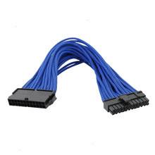 Macho de 24pin Sleeved 24X ao cabo distribuidor de corrente fêmea do cartão-matriz do computador
