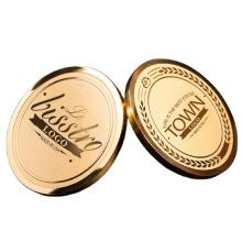 Wholesale 24K Gold Custom Metal Emblems Brooch Logo Name Badge