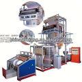 LD / LLDHigh velocidad Blown Film hdpe camiseta bolsas Máquina en ax tubería de extrusión línea de producción leche máquina de envasado