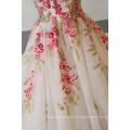 Alta qualidade mais recente projeto vermelho luxo vestido de noiva 2017 dy030