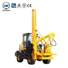 Loader type guardrail pile driver hydraulic post driver for safety barriers