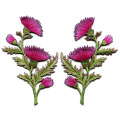 Lavender Carnation Flowers Broderade Appliques Patches