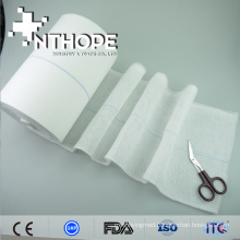 100% cotton high quality sterilization absorbent gauze roll disposable use