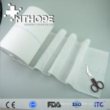 100% algodão de alta qualidade esterilização absorvente rolo de gaze uso descartável