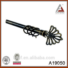 A19050 Decorative Home Crown Endings and Iron Curtain Rods,metal plastic curtain rod finial