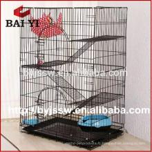 Cage de chat de treillis métallique enduit de poudre à vendre