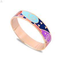 Fashion Rose Gold Stainless Steel Enamel Bangle Bracelet