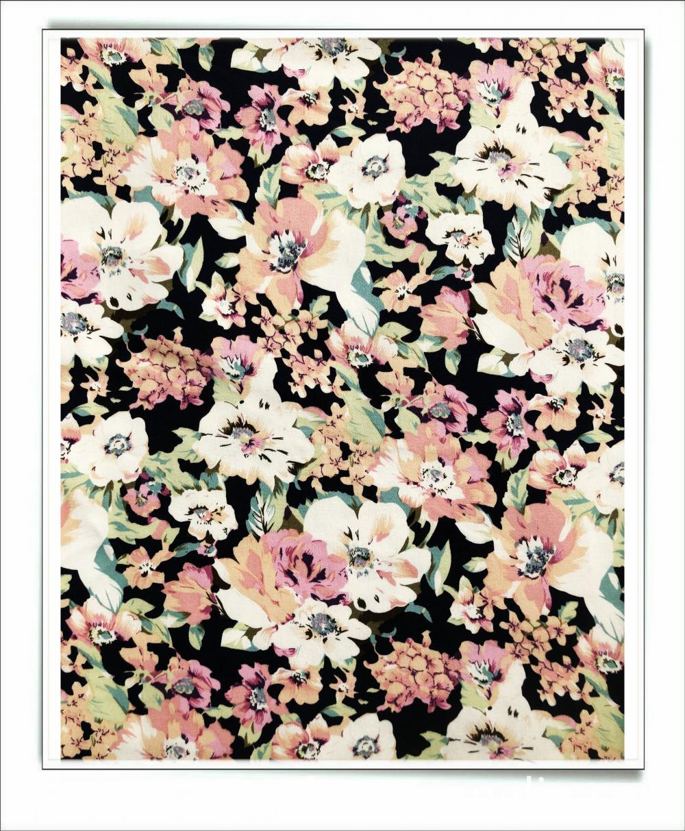 Floral cotton stretch yarn for dress