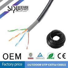 SIPU лучшее качество водонепроницаемый открытый cat5e lan кабель сетевой кабель