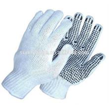 Pvc handschuhe punktierte Baumwollstrickhandschuhe Fabrikhandschuhe