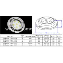 waterproof IP68 6W underwater led marine light with stainless steel 316
