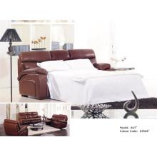 Sofá reclinável elétrico de sofá em couro de couro genuíno (847)
