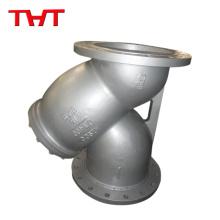 THT Y type Filtro de filtro bronez cuerpo de latón con pantalla
