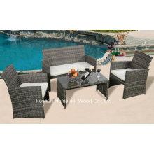 Promotional 4 Pieces Outdoor Wicker Patio Furniture Rattan Sofa Set