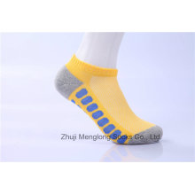 Moda hombres deporte algodón calcetines de colores brillantes con cojín interior