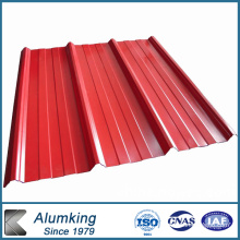 Tôle de toiture en aluminium ondulé pré-peinte pour la construction