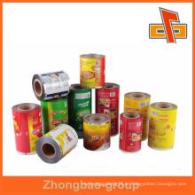 Personalizado plástico matt alumínio laminado bolsa de filme em rolo para embalagem de alimentos China fabricante