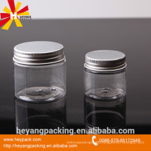 hot sale clear plastic jar with lids