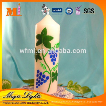 Beautiful design high quality white pillar candles
