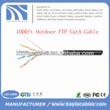 1000FT 4pairs Outdoor Cat5 Bulk Network FTP Wire