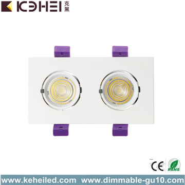 Downlight LED da incasso a due teste da 24W 5000K