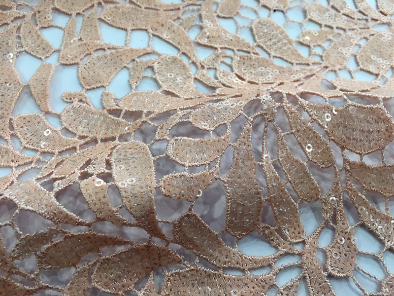 Sequins Guipure Embroidery Fabric