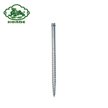 Galvanized Ground Screw Anchors Pada Ground Spike Logam